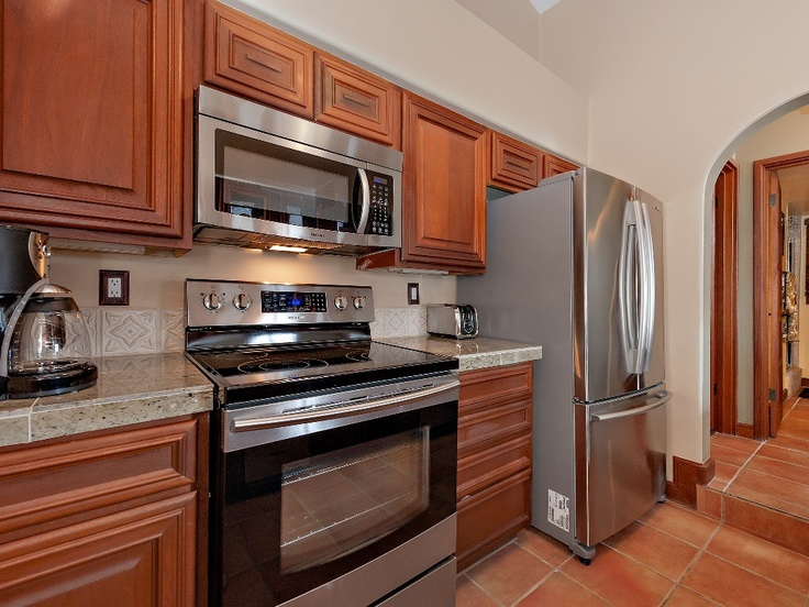 Completely Updated Kitchen with Marble Counters and Samsung Stainless Appliances