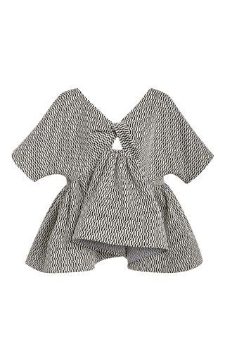 Medium maticevski multi alluding checkerboard blouse