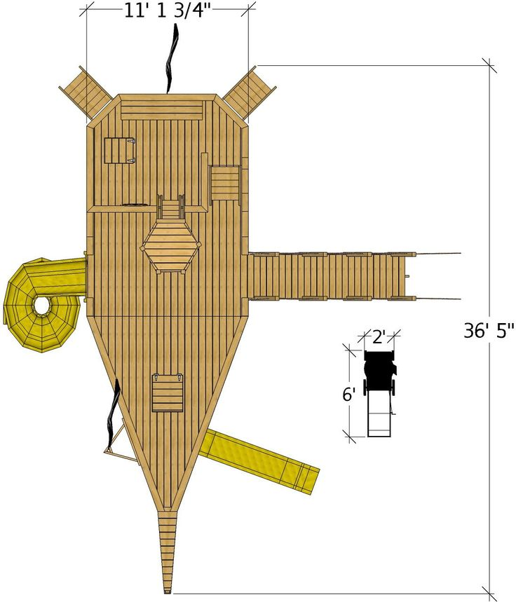 top view of large pirate ship plan   Play houses, Pirate ...