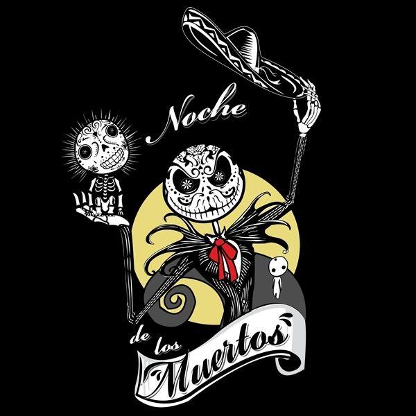 Jack skellington, sugar skulls AND kodamas. madness :D Noche de los Muertos