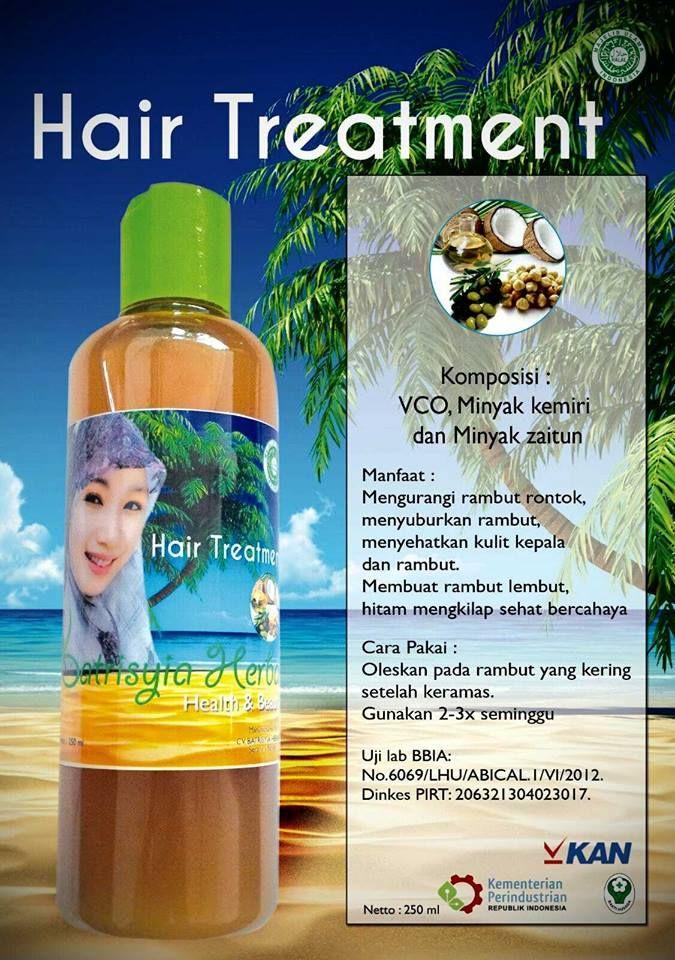 Batrisyia Hair Treatment untuk perawatan rambut yang alami, aman dan halal. Komposisi : VCO, Minyak kemiri, Minyak Zaitun Manfaat : In syaa Allah berkhasiat untuk Membantu merangsang pertumbuhan rambut dan bulu Mengurangi rambut rontok Menyuburkan rambut Menyehatkan kulit kepala dan rambut Mengurangi ketombe Mengurangi kutu Mengurangi uban Membuat rambut lembut, hitam mengkilap, sehat bercahaya Cara …