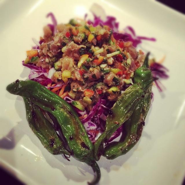 Poke salad w/ Shishito peppers: Shishito Peppers, Poke Salad