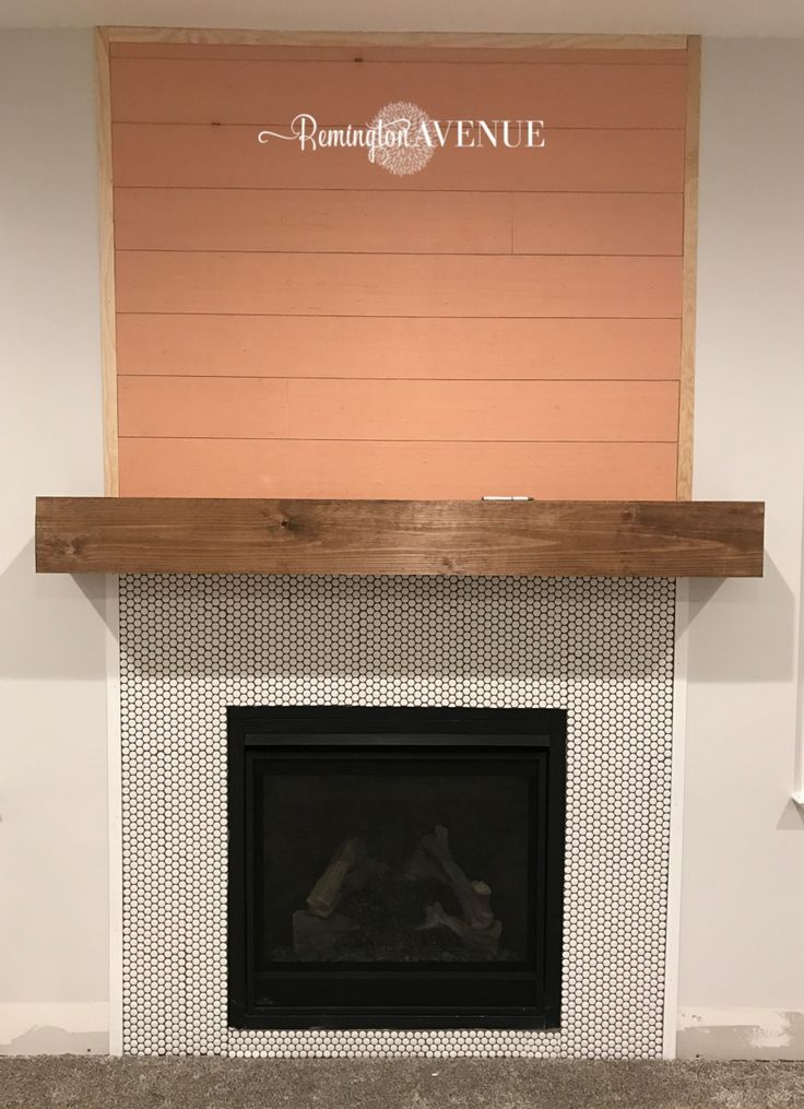 Easy DIY wood mantel Wood mantels, Diy fireplace mantel