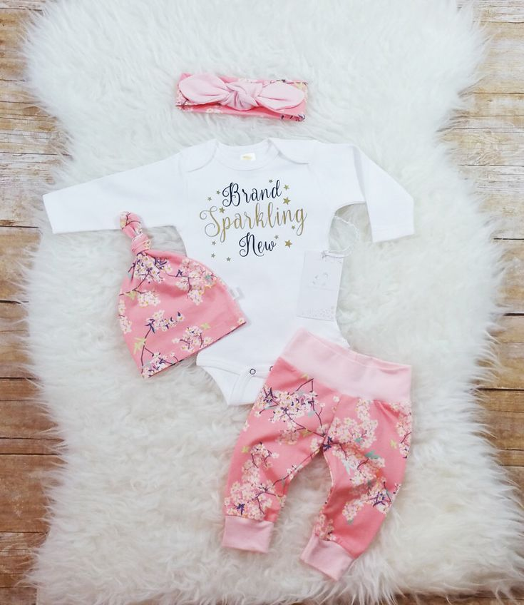 Brand Sparkling New Baby Girl Coming Home Outfit Newborn Baby Girl Outfit Photo Prop Take Home Outfit Baby Shower Gift New Baby Gift by LLPreciousCreations on Etsy https://www.etsy.com/listing/492703499/brand-sparkling-new-baby-girl-coming