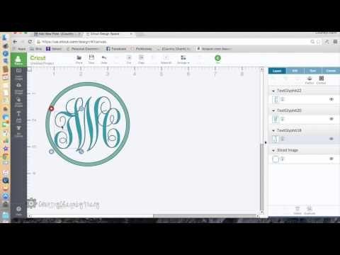 How to Make a Monogram Logo using Cricut Design Space - YouTube