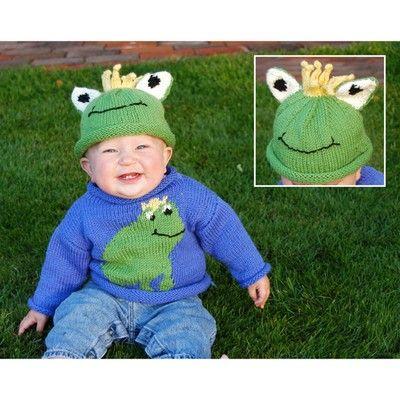 Cascade Yarns W220 220 Superwash Frog Sweater & Hat (Free)