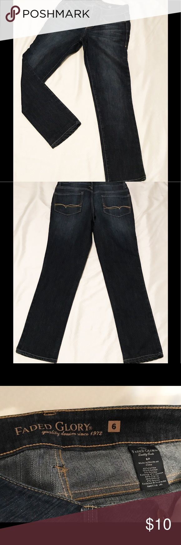Women's Faded Glory jeans Women's Faded Glory jeans. EUC with no stains or tears. Size 6. Cotton, polyester, spandex blend for a comfortable fit. Easy care machine wash and dry. All reasonable offers welcome. Faded Glory Jeans Straight Leg