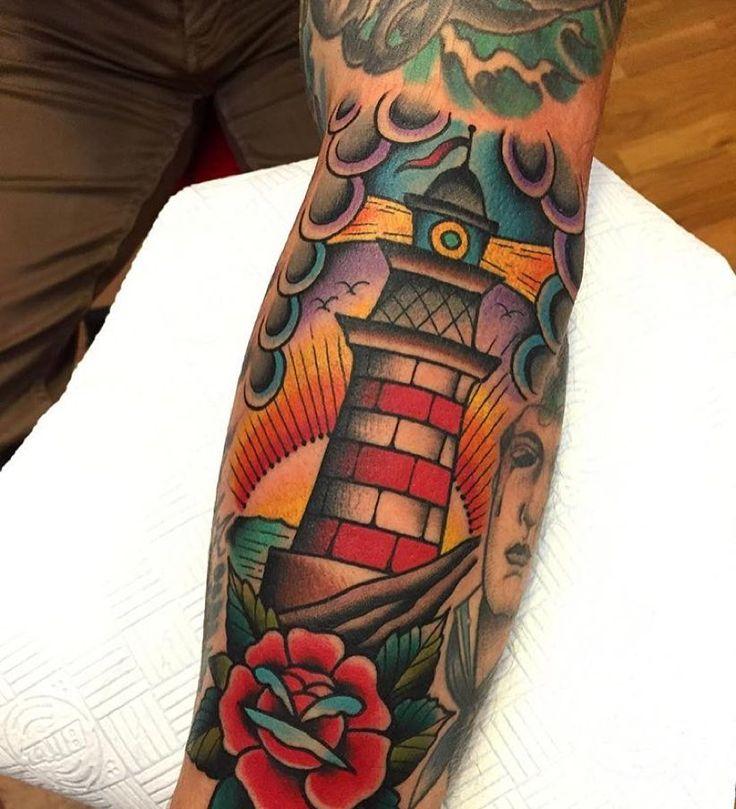Samuele Briganti  #oddball #odd #lifestyle #art #tattoo #tattoos #traditional #girls #girlswithtattoos #tattoed #lighthouse #666 #oddlife by o_d_d_b_a…