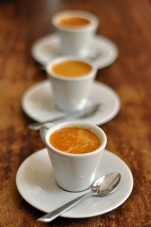 Italian expresso.  The post-meal coffee is definitely part of the Italian dining…