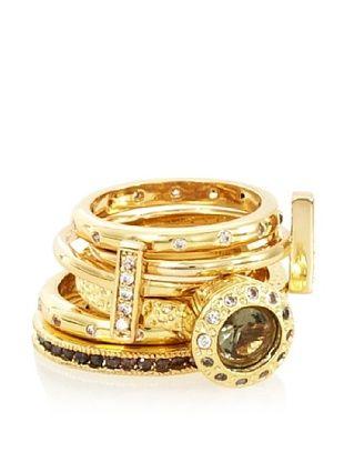 Beyond Rings Melange Set of 6 Stack Ring Set
