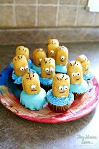 Despicable Me Minion Surprise Cupcakes Recipe | This Mama Loves