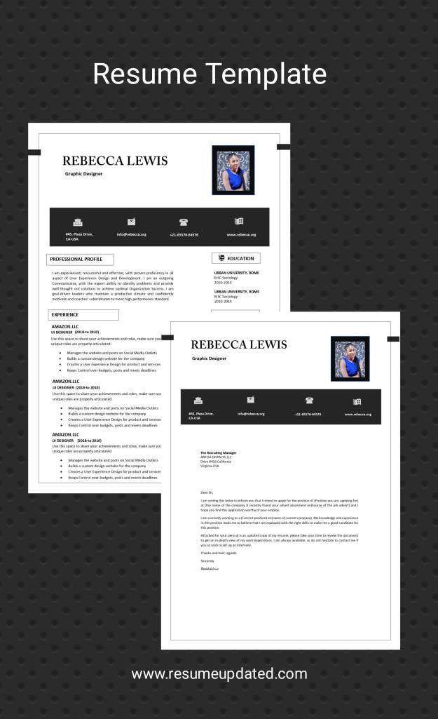 Cv Templateresumecover Letter Professional Resumedownload Etsy In 2021 Cover Letter For Resume Resume Free Resume Template Word