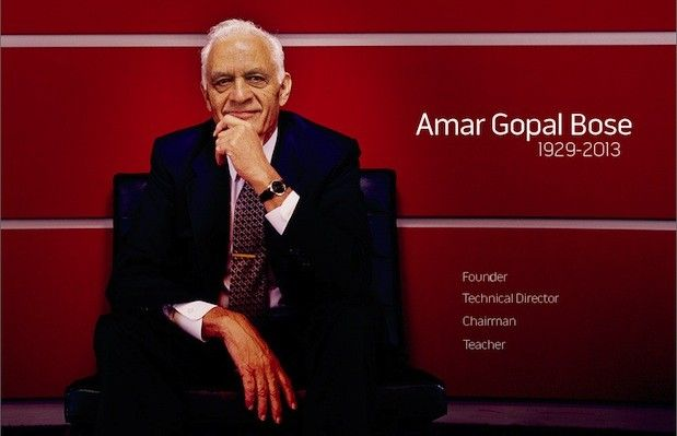 I bow to you Dr. Amar Bose, audio visionary, dies at 83