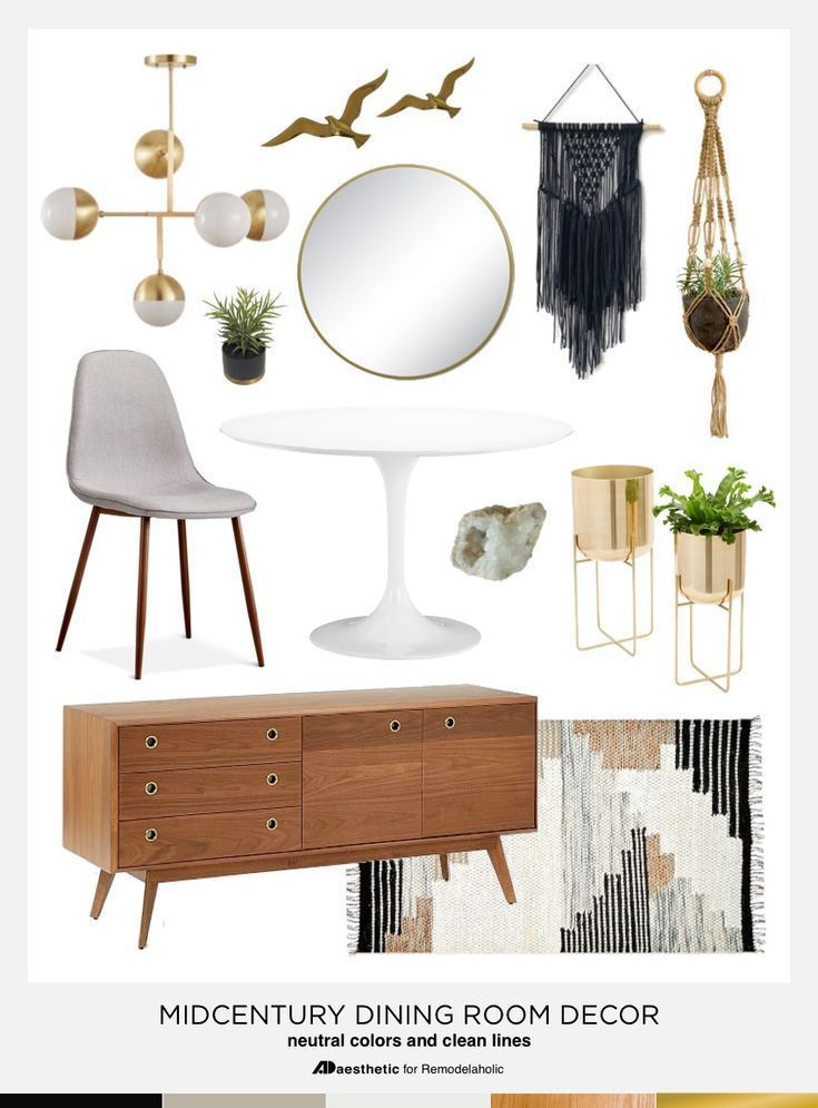 Dining In Style Neutral Mid Century Modern Dining Room Decor