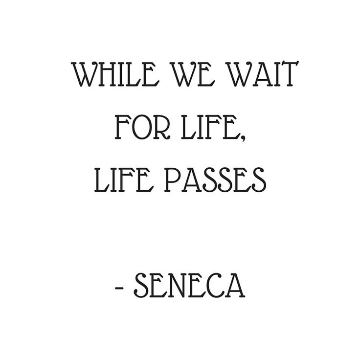 Stoic Inspiration Quotes – Seneca- While we wait for life life passes | Poster