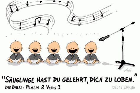 Lies den Vers des Bibel-Cartoons auf #BibleServer nach   Psalm 8,3