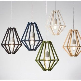 Timber pendants in colours