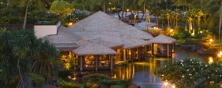 Tidepools - Romantic Restaurant on the water in Kauai. The food is here was delicious!!!