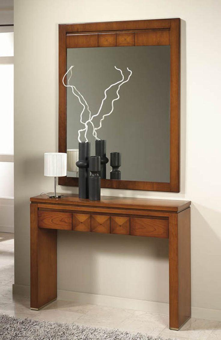 Consolas de madera modelo avedum decoracion beltran tu for Modelos de muebles de madera