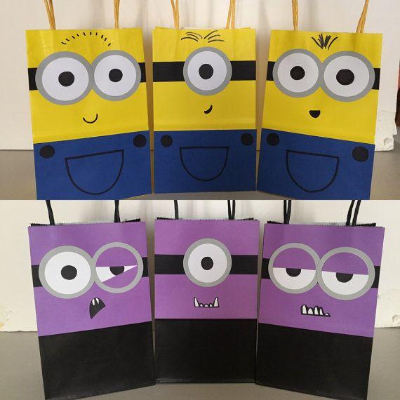 Deable Me Minions Goo Bags 12pc By Xeverlastingmemories Cesar 2 Birthday Party Theme Minion