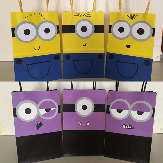 Despicable Me Minions Goodie Bags 12pc by xEverlastingMemories