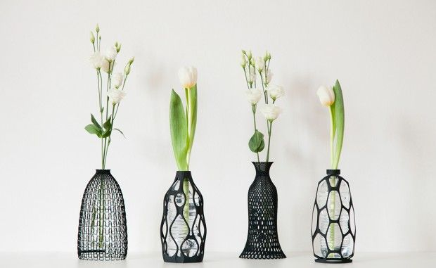 Le designer italien Libero Rutilo, qui vit et travaille à Milan, a créé cette collection de quatre vases en utilisant l'impression 3D. Cette collection est
