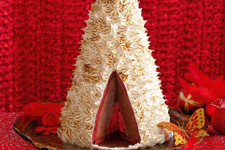 Red velvet choc cherry bombe #wedding http://www.taste.com.au/recipes/31915/red+velvet+choc+cherry+bombe