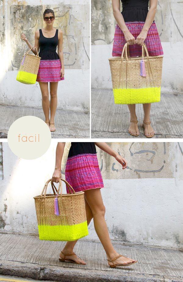 DIY neon basket