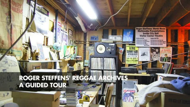 Roger Steffens' Reggae Archives by Babylon Falling. This past January Roger Steffens gave us a full guided tour of all six rooms of his Reggae Archives. Comprised of collections within collections the 'Ark-Hives' represents a lifetime dedicated to Reggae music. Involved since the earliest days of Reggae music's debut on the international scene Roger has not only been a collector but a participant and key player in the development and spread of the music and culture.