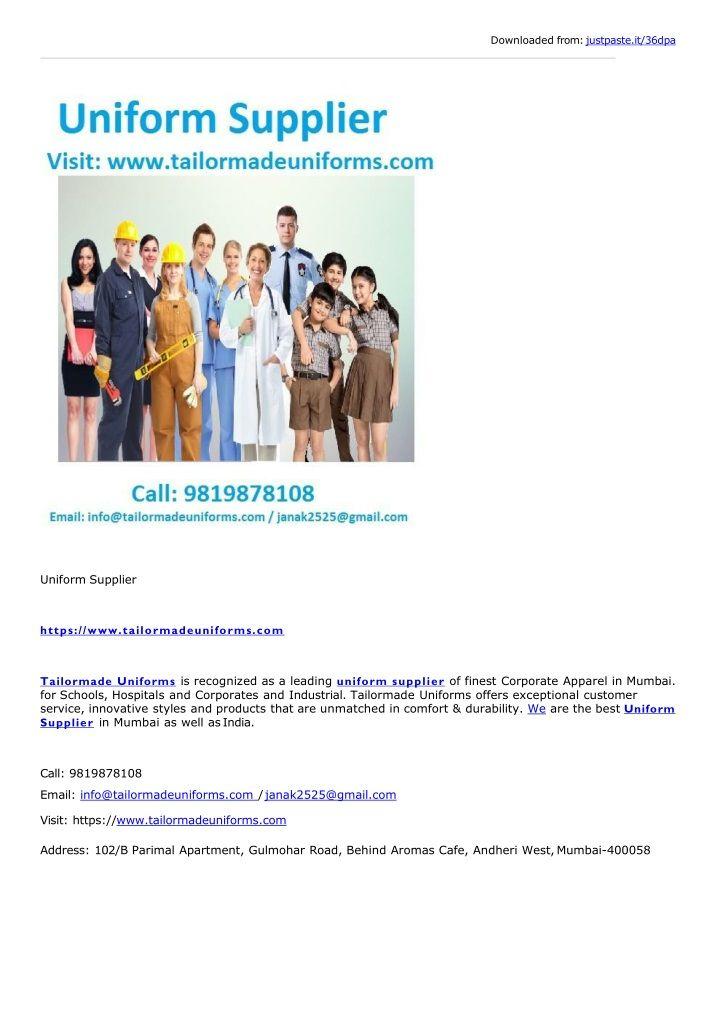 Uniform Supplier Uniform Corporate Uniforms Innovative Fashion