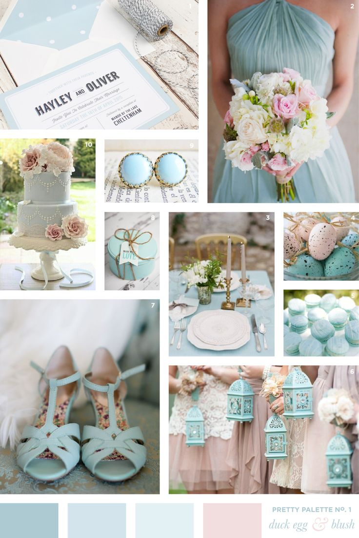Duck Egg Blue & Blush Wedding Colour Palette | Flourish & Lace Bespoke Wedding Stationery and Invitations