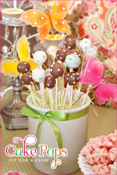 Great party theme ideas! This is for a Fairy Garden Birthday Party.: Birthday Parties, Garden Party, Cake Pops, Garden Parties, Fairy Garden, Fairies Garden, Party Ideas, Birthday Party