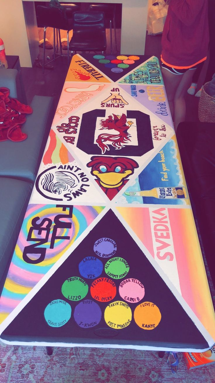 Beer Pong Table Painted With Images Beer Pong Table