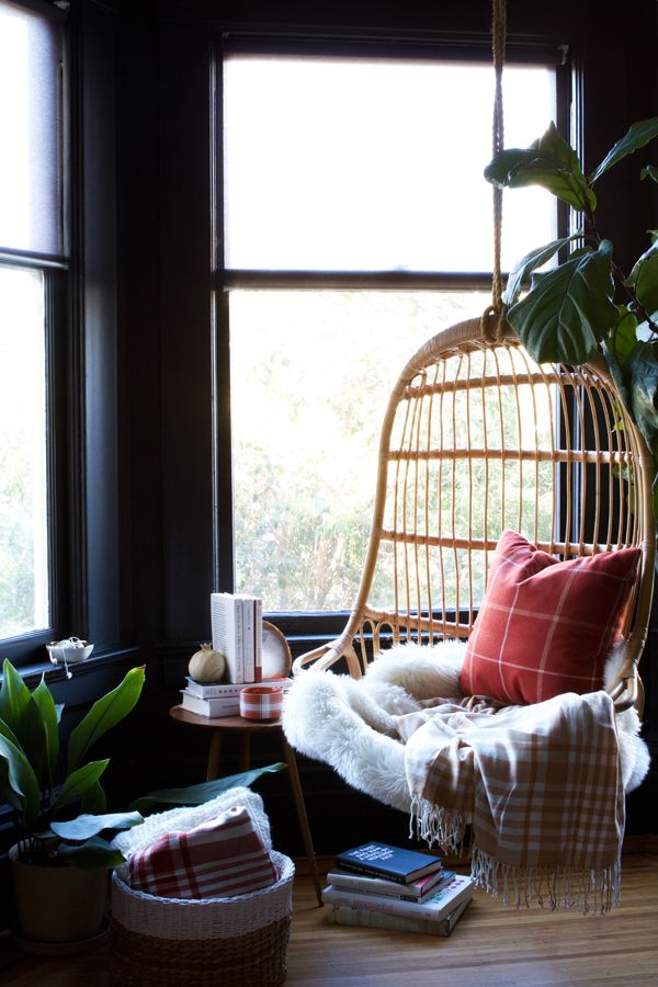 Cozy Plaid Reading Nook | Oh Happy Day!: