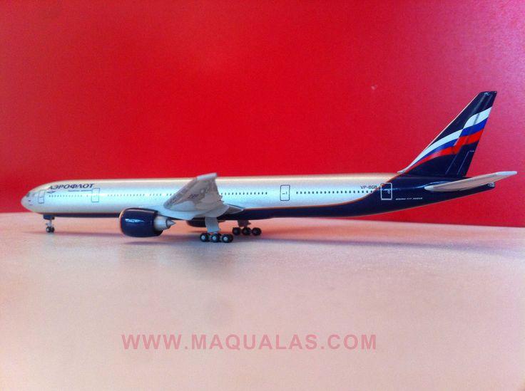 Boeing 777-300Aeroflot a escala 1:500 de Herpa