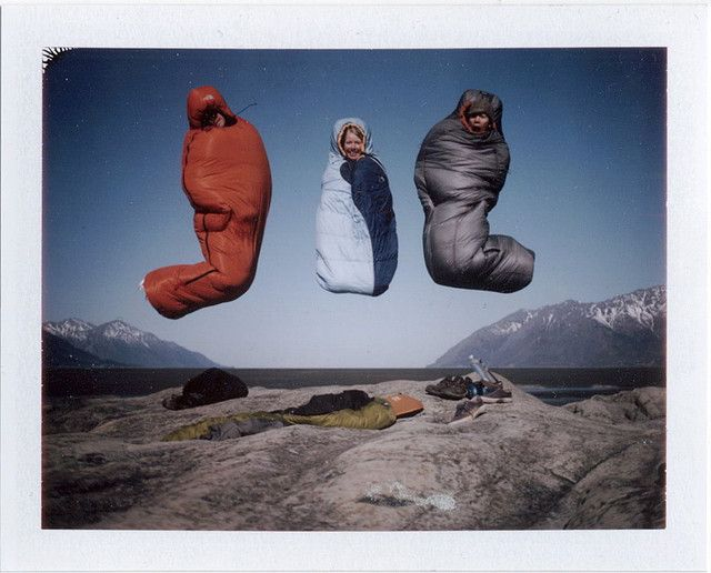 I will take sleeping bags everywhere and take a jumping picture like this.