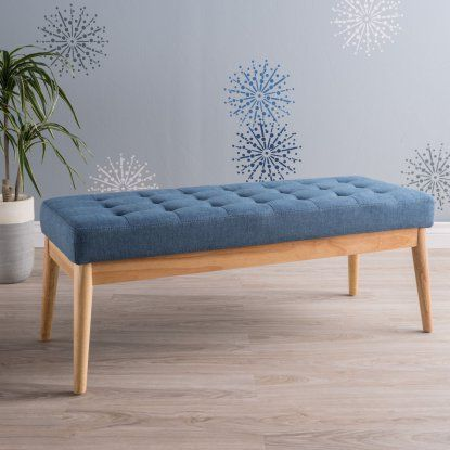 Best Selling Home Saxon Fabric Indoor Bench - Indoor Benches at Hayneedle