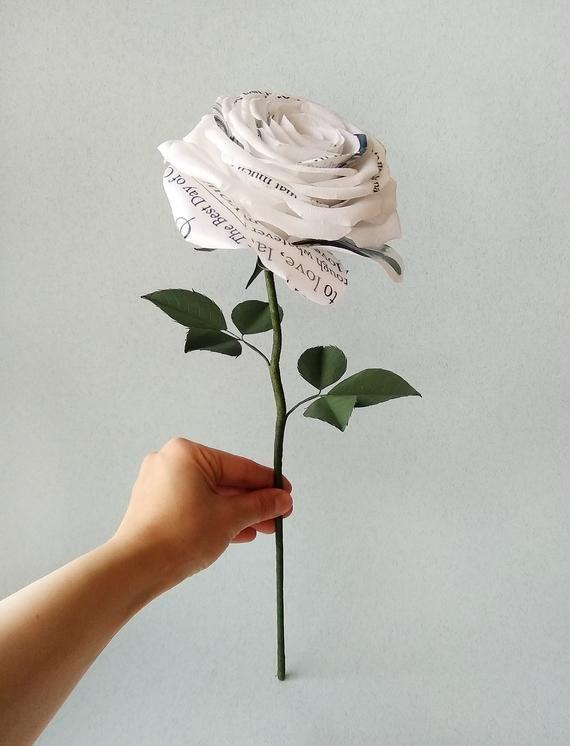 Paper Rose Lyrics One Year Together Lyrics Roses Paper Roses Etsy Paper Roses Poppy Bouquet Rose