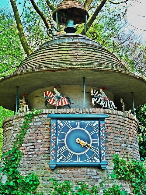 Clock in the Efteling by STEHOUWER AND RECIO in Kaatsheuvel, North Brabant, NL
