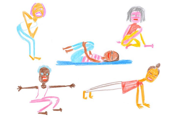 Yoga Exercise Illustration