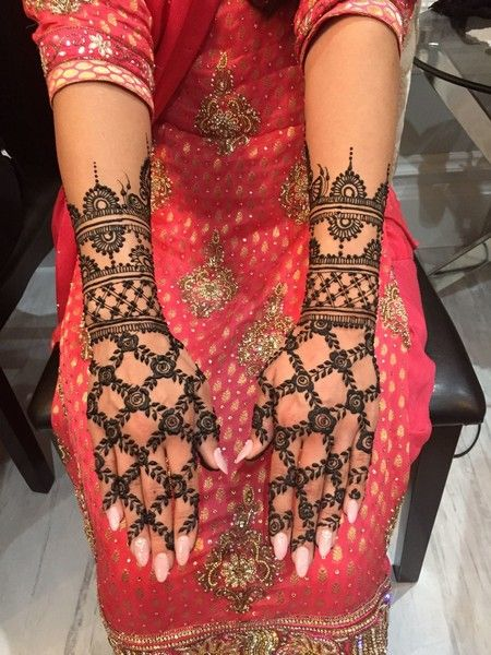 Floral Inspired Mehndi Design on Arms http://www.maharaniweddings.com/gallery/photo/88656