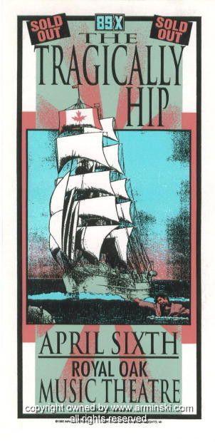 1995 The Tragically Hip Concert Handbill by Arminski (MA-028)