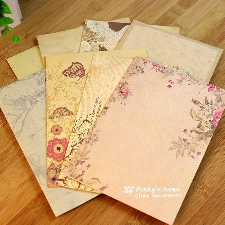 10 шт./компл. страна стиль ретро любовное письмо конверт симпатичные письмо бумажные конверты купить на AliExpress