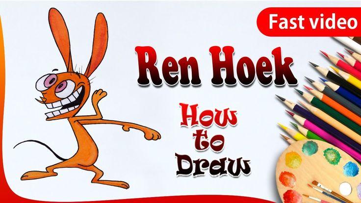 How to Draw Ren Hoek from Ren and Stimpy ||  Ren Hoek Drawing || drawing...