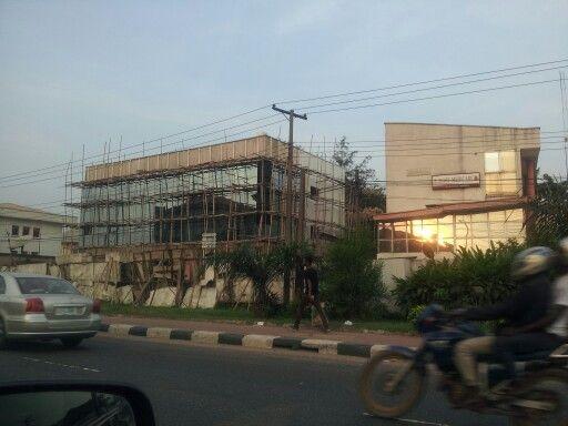 Bamboo Scaffold in Lagos, Nigeria