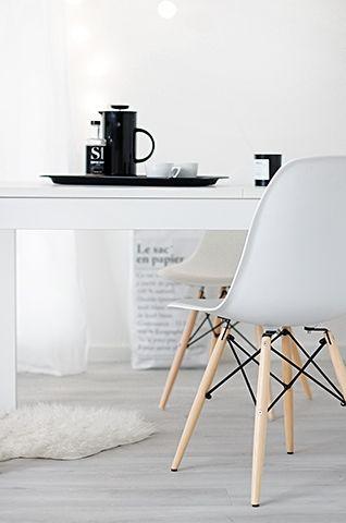 Via My White Obsession | White | Ikea | Eames DSW Chairs www.redreidinghood.com