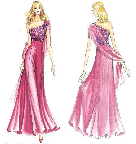 F3227 | Marfy Dress | Evening / Prom | Kwik Sew Patterns …