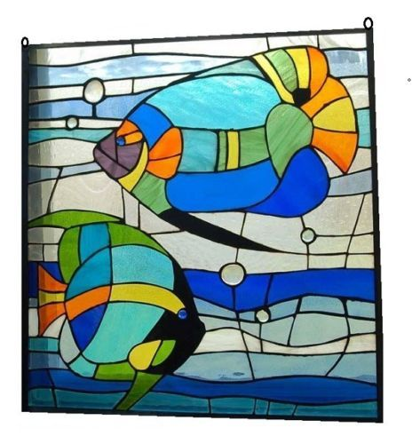 81 best images about ocean wildlife glass on pinterest for Stained glass fish patterns