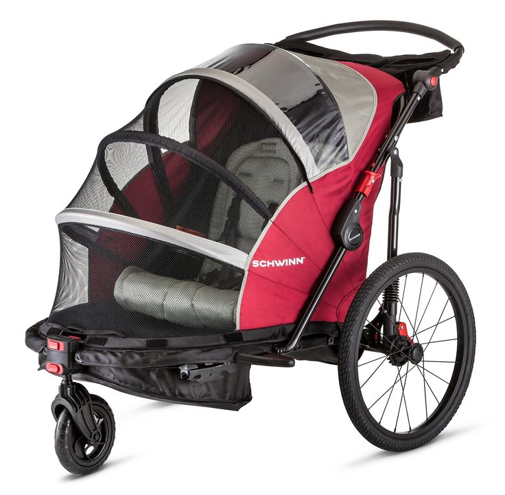 Schwinn Joyrider Double Bicycle Trailer Red * Click image
