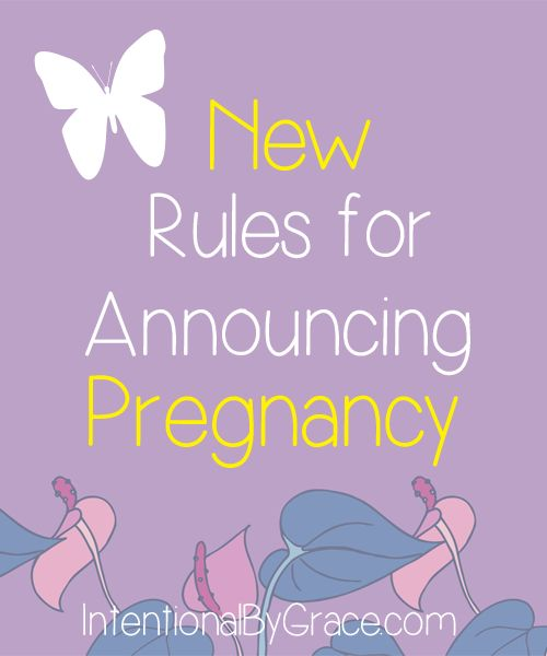 new rules for announcing pregnancy - LOVE THIS  God did not give me a spirit of fear, but a spirit of power, love, and a sound mind (2 Timothy 1:7), and I did not want to make decisions out of fear.